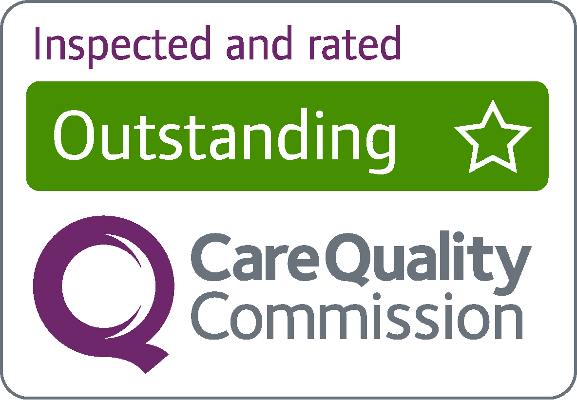 Outstanding CQC inspection rating