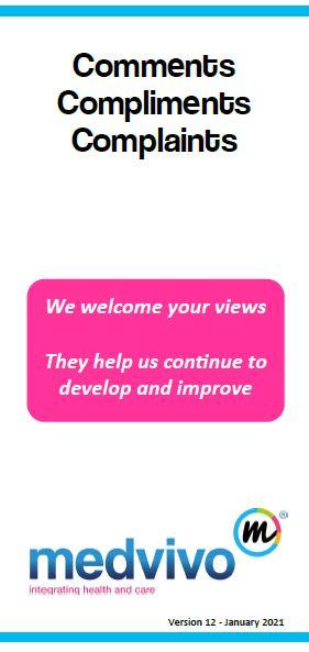 Image of complaints leaflet