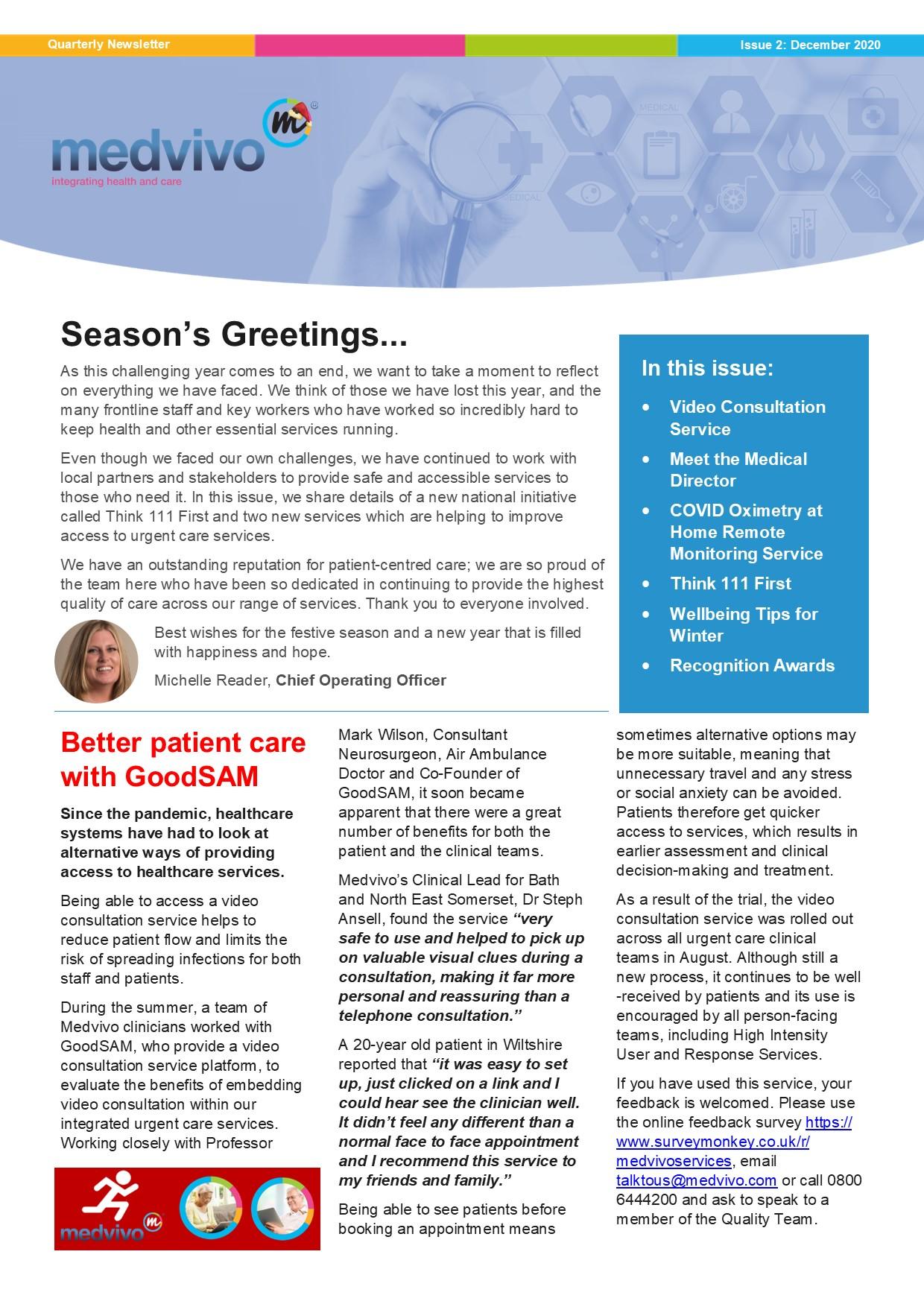 Cover of December 2020 Newsletter